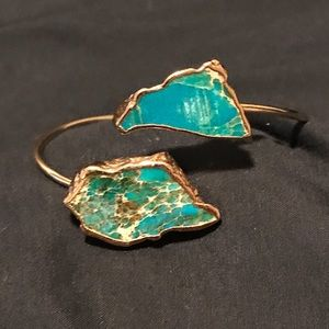 Jewelry - Gold Vermeil Plated Turquoise Cuff